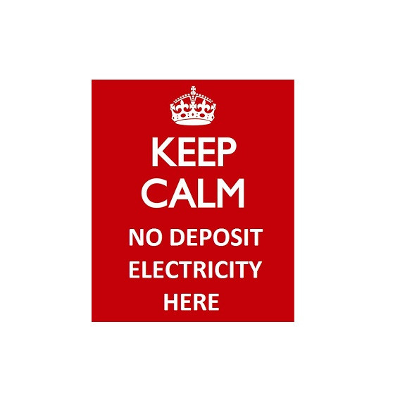 Keep calm, no deposit electricity here
