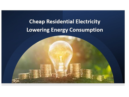 Cheap Residential Electricity Lowering Energy Consumption