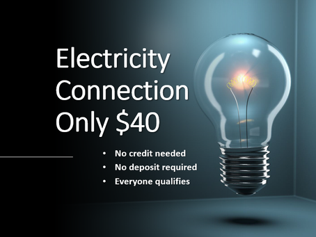 Electricity Connection for Only $ 40