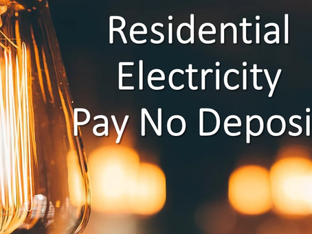 Residential Electricity Pay No Deposit