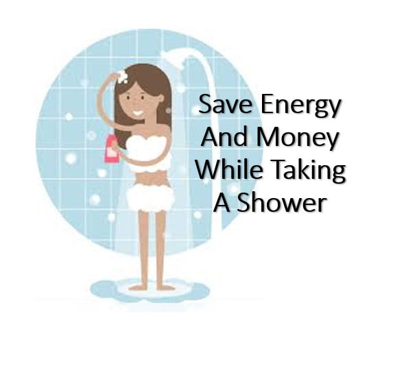 Taking a shower and saving money