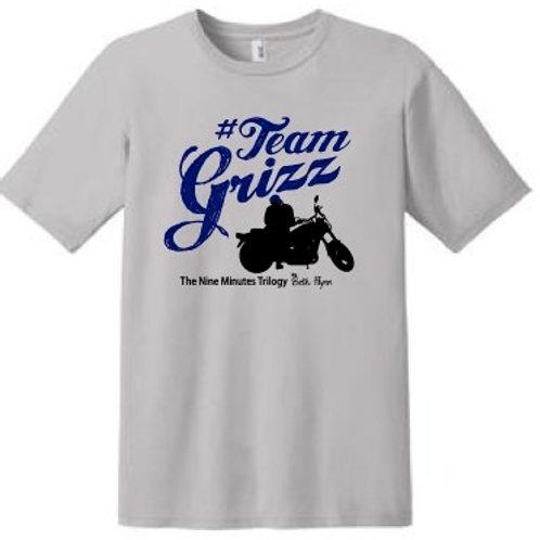 #Team Grizz T-Shirt (Gray w/dark blue lettering)