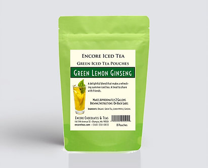 Green Lemon Ginseng Iced Tea Pouch