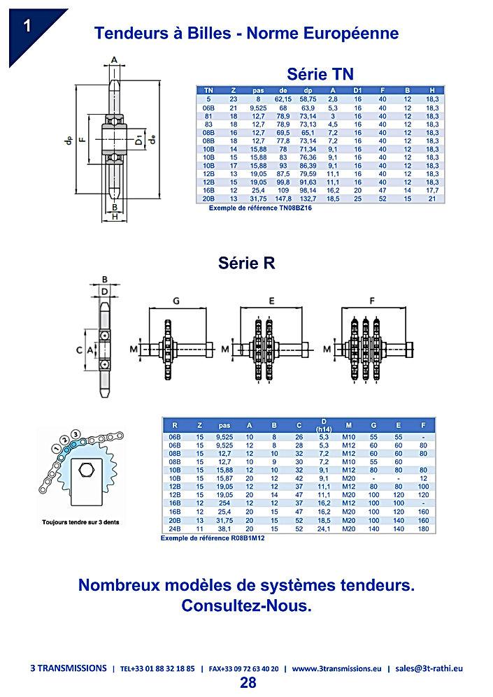 Tendeurs a Billes chaines Industrielles | 3 Transmissions