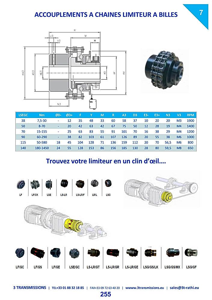 Accouplements à chaines limiteur de couple LCG | 3 Transmissions