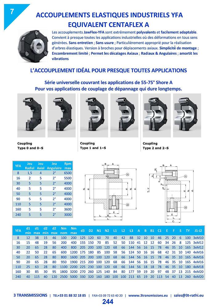 Accouplements à anneau élastiques YFA   3 Transmissions