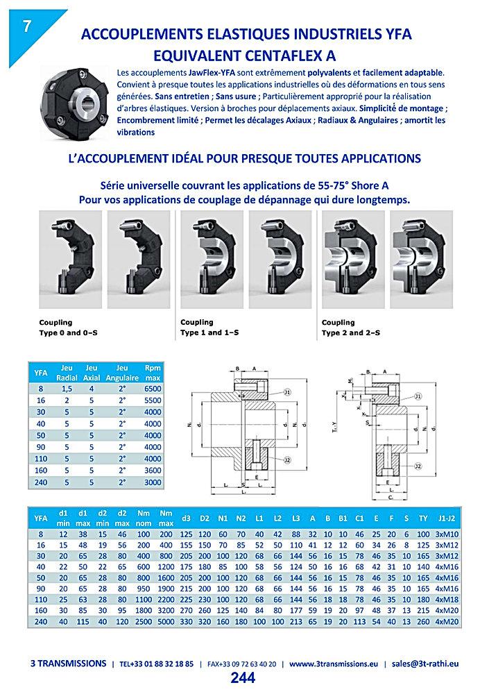 Accouplements à anneau élastiques YFA | 3 Transmissions