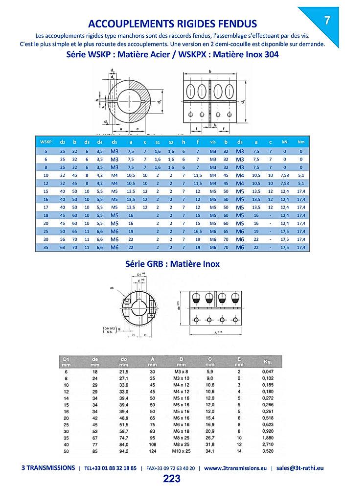 Accouplements Rigides Fendus en acier | 3 Transmissions
