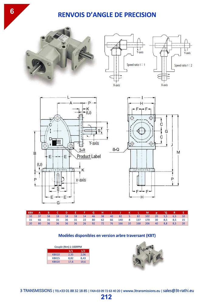 Renvoi d'angle de précision pour charges légères | 3 Transmissions