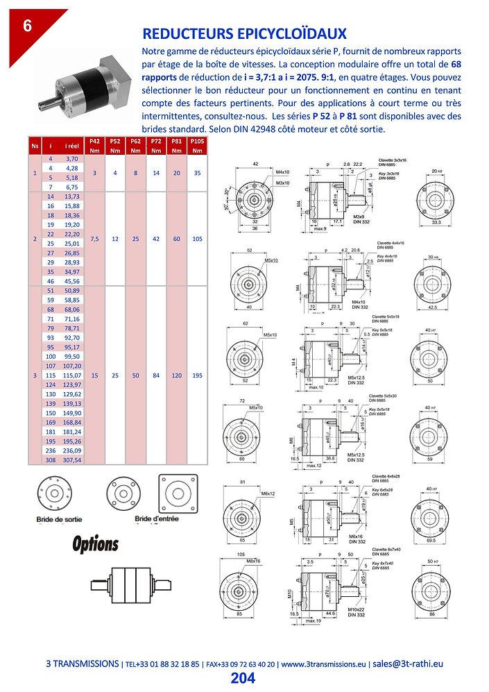 Réducteurs épicycloidaux, Motoréducteurs planétaires | 3 Transmissions