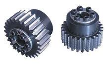 Roue cylindrique denture droite en acier C45 moyeu RingBlock Module 2 SSG