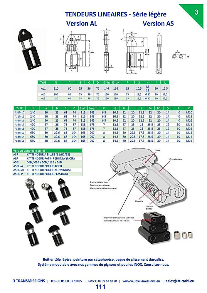 Tendeurs Automatiques chaines série A | 3 Transmissions