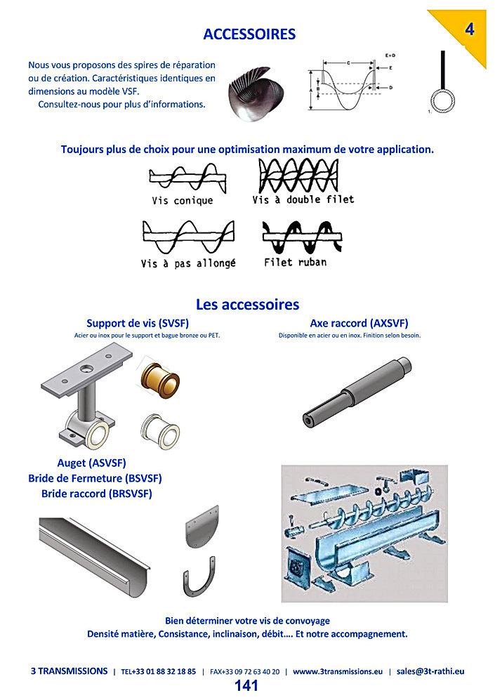 Accessoires Vis Archimede | 3 Transmissions