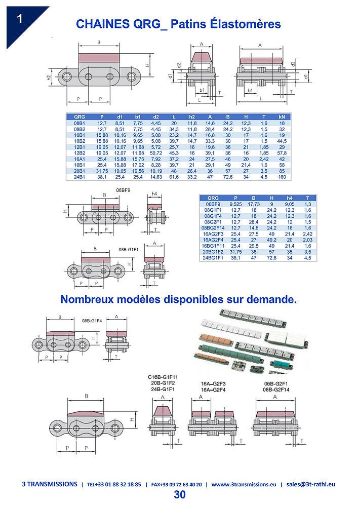 Chaines Industrielles Patins Plastiques | 3 Transmissions