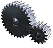 Engrenage cylindrique droite a moyeu en acier c45 60hrc module 5 ssag