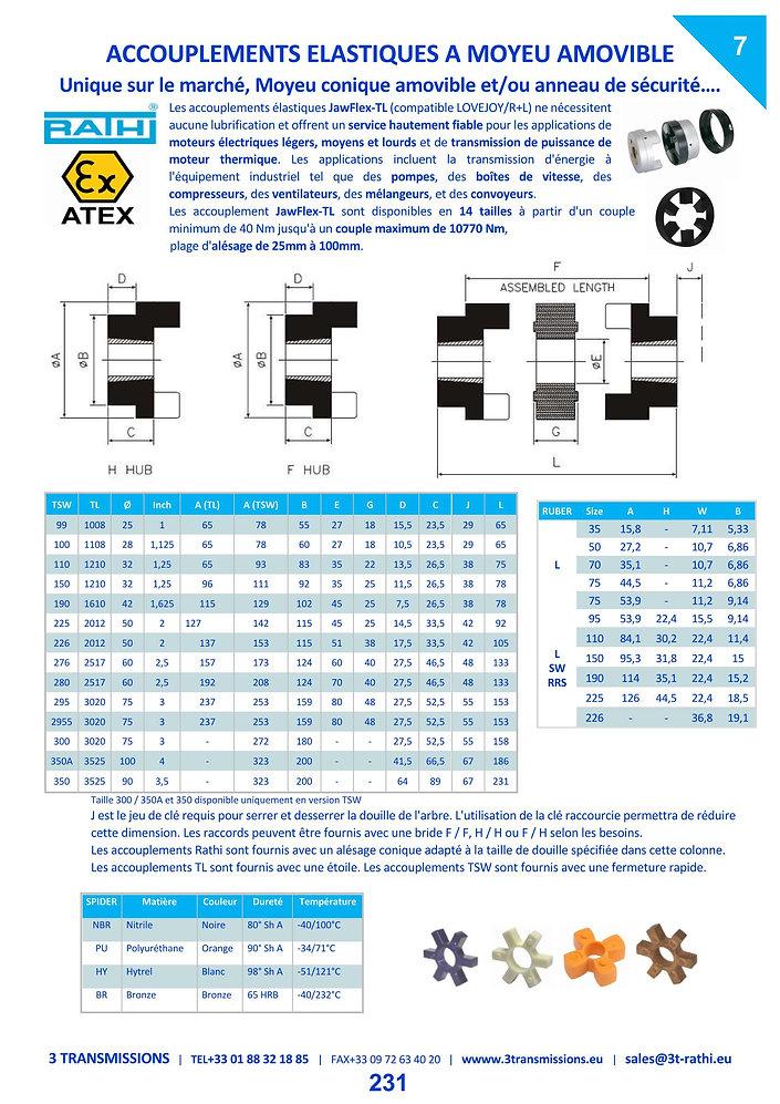 Accouplements élastiques à flector à moyeu amovible | 3 Transmissions