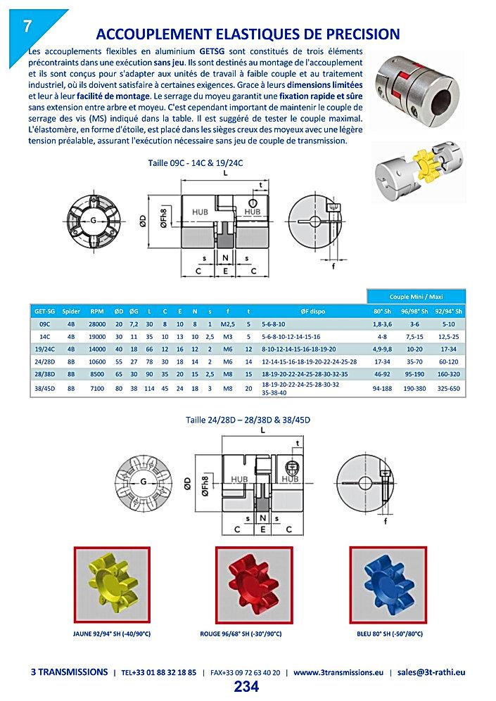 Accouplements élastiques précision à moyeu fendu | 3 Transmissions
