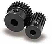 Engrenage cylindrique droite a moyeu en acier c45 module 0,5 ss