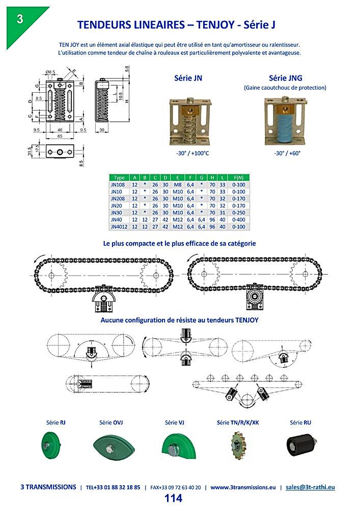 Tendeurs Lineaires chaines TENJOY-J | 3 Transmissions