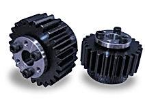 Engrenage cylindrique droite a moyeu ringblock en acier c45 ss