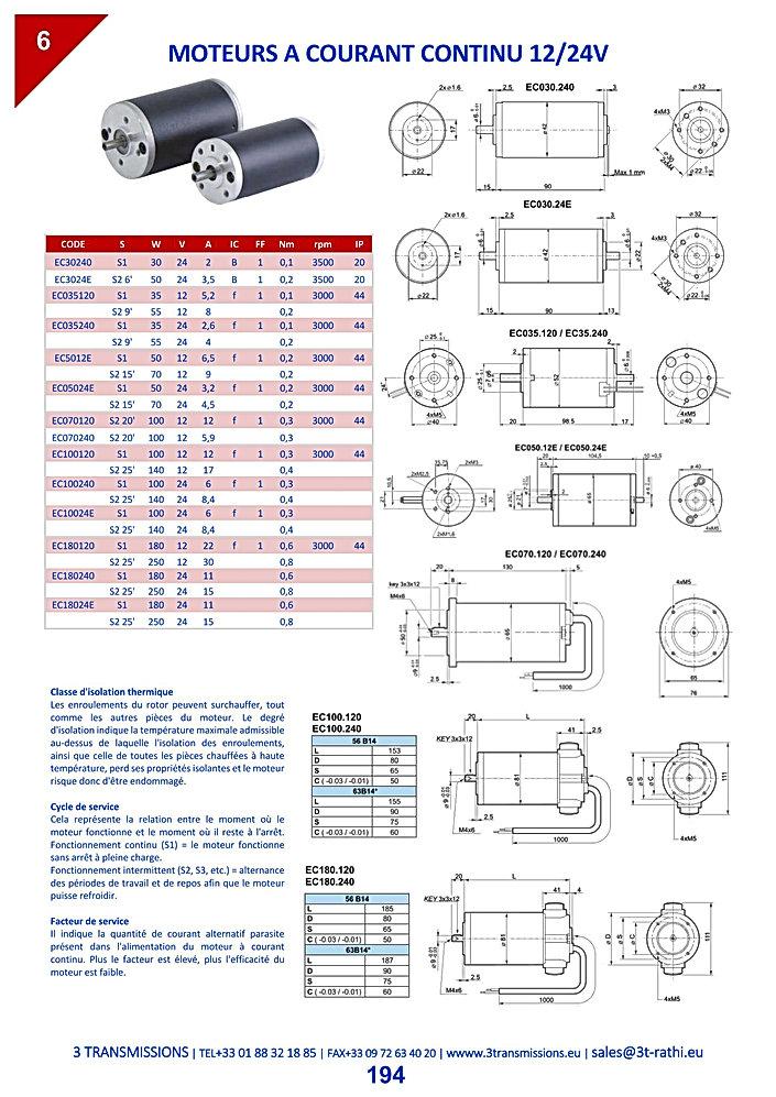 Moteurs 1ZV, moteurs synchrones, moteurs courant continu | 3 Transmissions