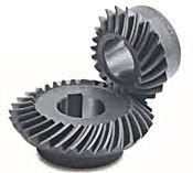 Engrenage spiro conique acier 16CrMo4 60Hrc modèle MBSA