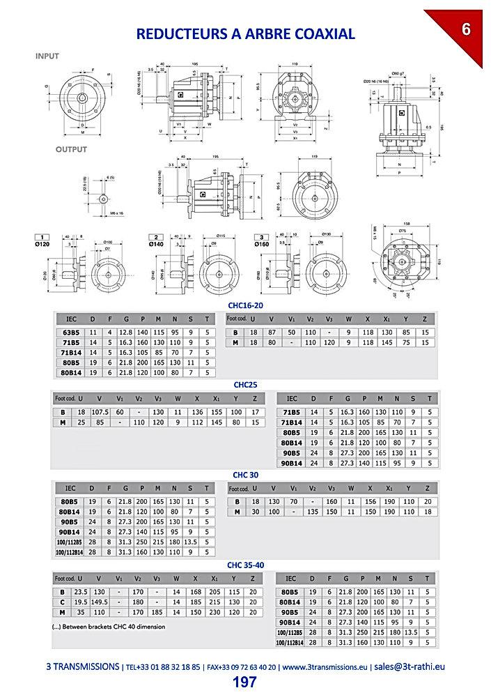 Motoréducteurs coaxiaux   3 Transmissions