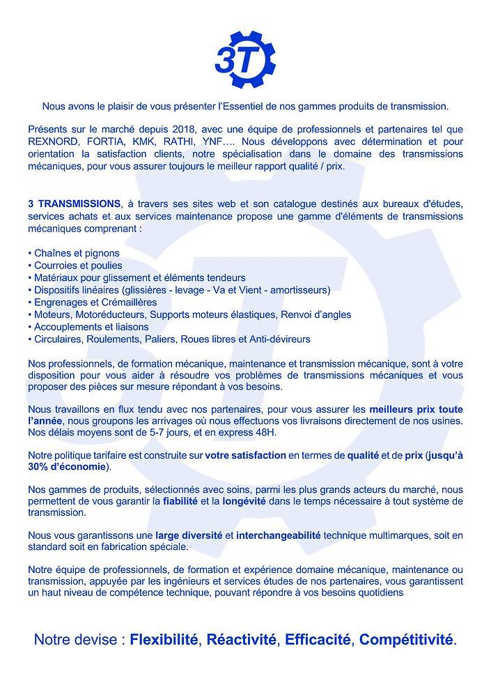 Transmission mécanique, Accouplement mécanique 3 Transmissions France | 3 Transmissions