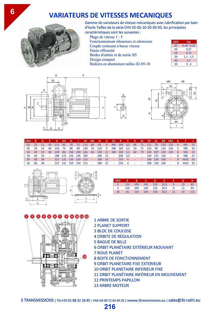 Variateur vitesse mécanique | 3 Transmissions