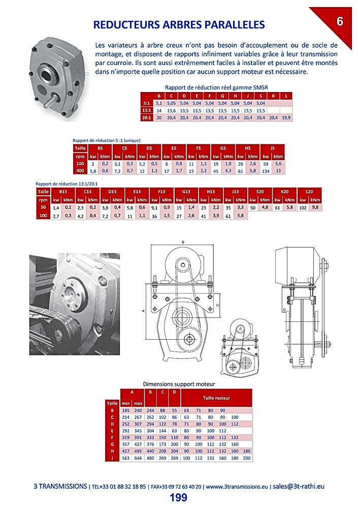 Réducteurs paralleles courroies, Motoréducteurs pendulaires | 3 Transmissions