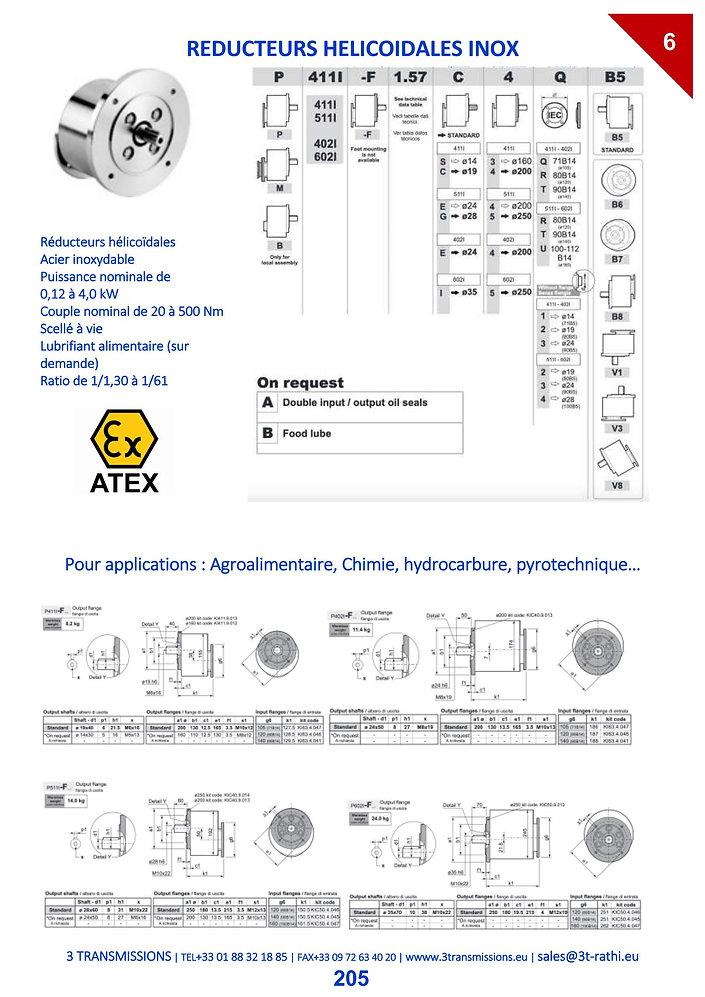 Réducteurs helicoidales inox, Réducteurs acier inoxydable | 3 Transmissions