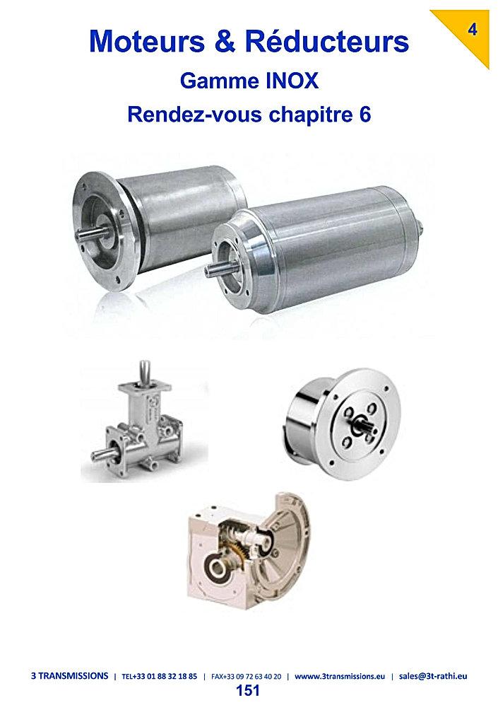 Motoreducteurs acier inoxydable | 3 Transmissions
