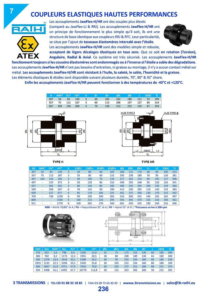 Accouplements élastiques à tampons élastique série H | 3 Transmissions