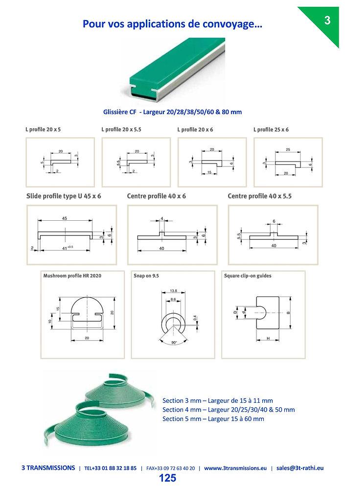 Profiles plastiques anti-friction | 3 Transmissions