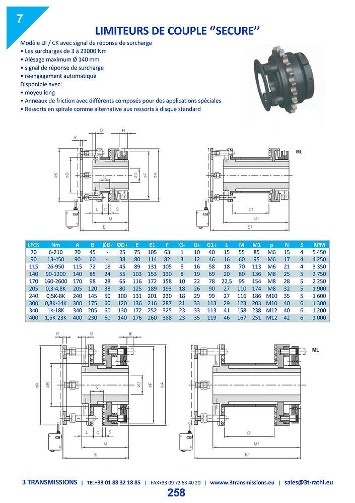 Limiteurs de couple à friction LF   3 Transmissions