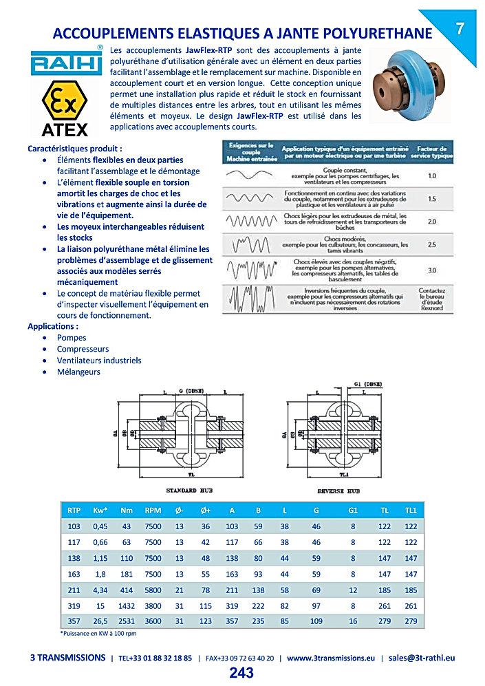 Accouplements élastiques à bandage polyuréthane RPS | 3 Transmissions