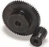 Engrenage cylindrique droite a moyeu en acier c45 module 2 ss