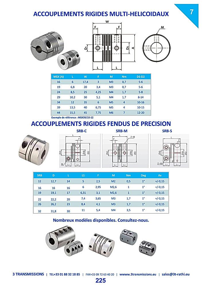Accouplements flexible Multi Helicoidale à segments | 3 Transmissions
