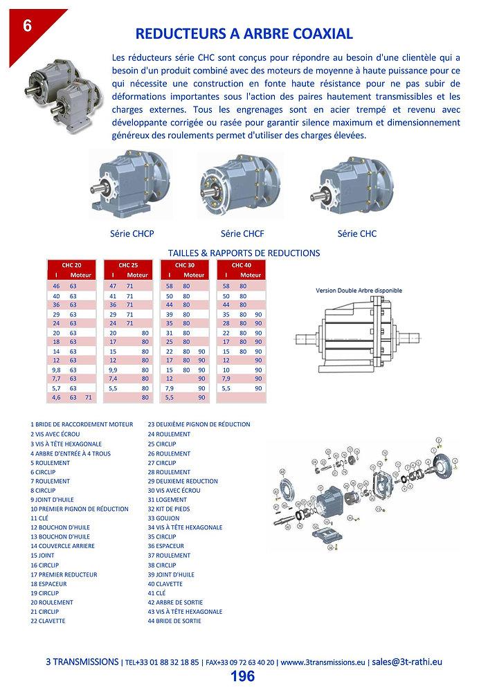 Motoréducteurs coaxiaux, Réducteurs coaxiaux   3 Transmissions