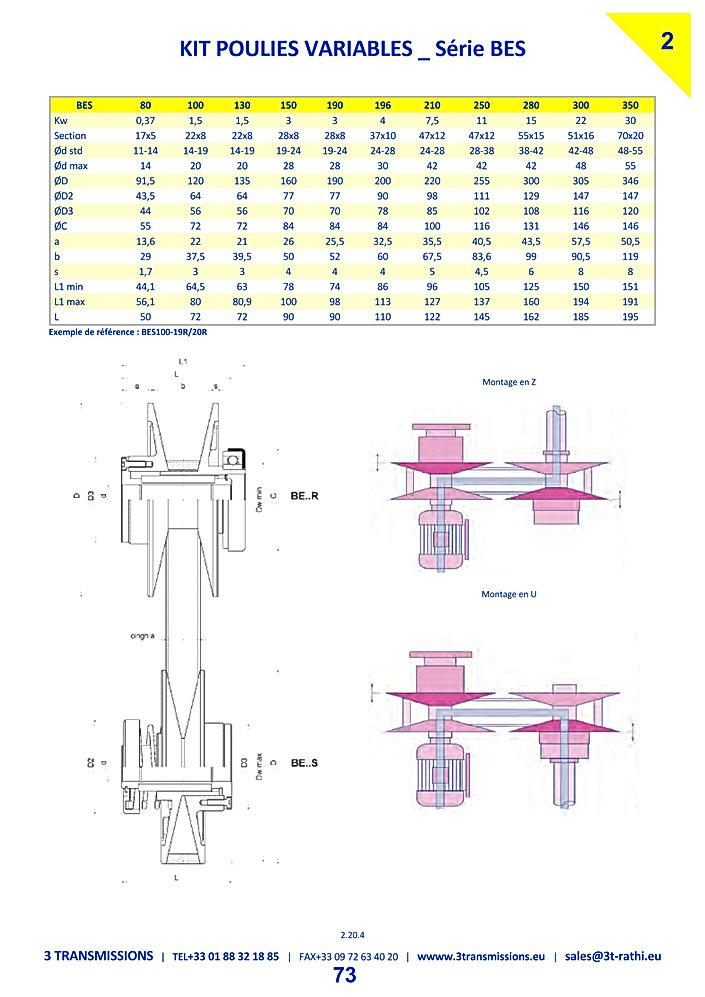 kit Poulies variables auto alignement | 3 Transmissions