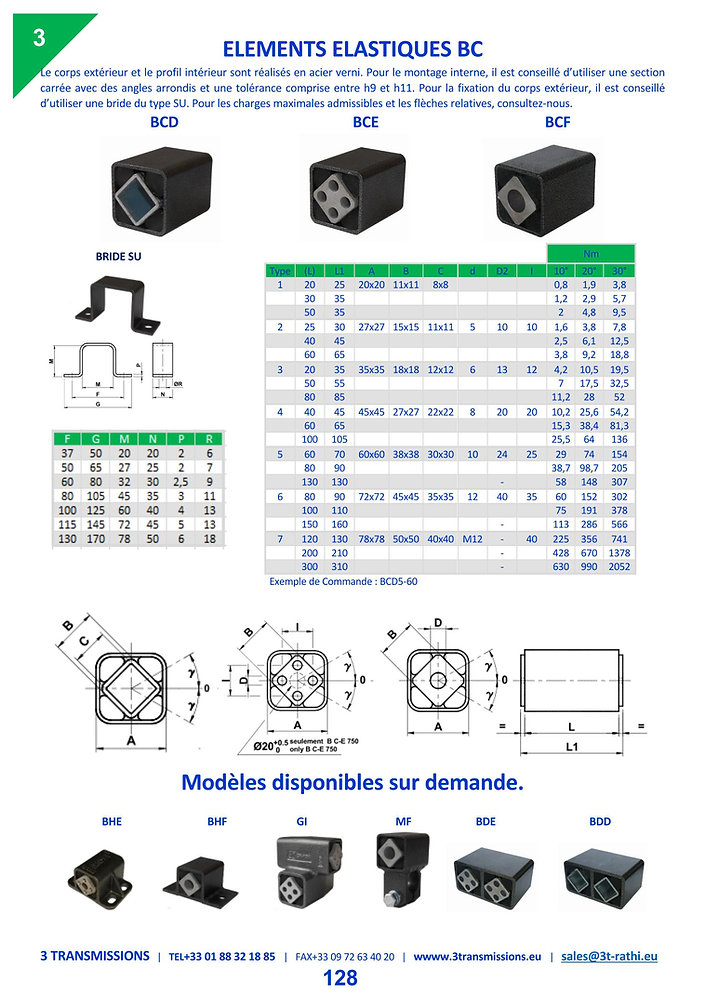 Elements elastiques   3 Transmissions