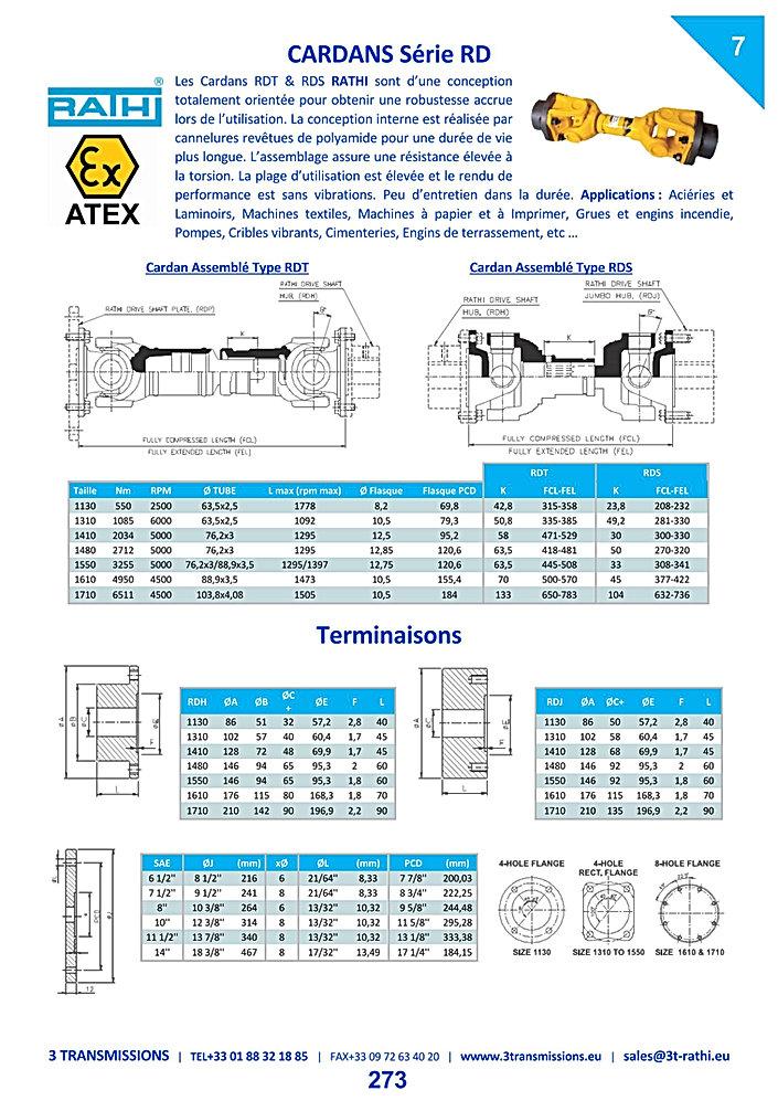 Cardan de transmission RATHI, Arbre de transmission cardanique | 3 Transmissions