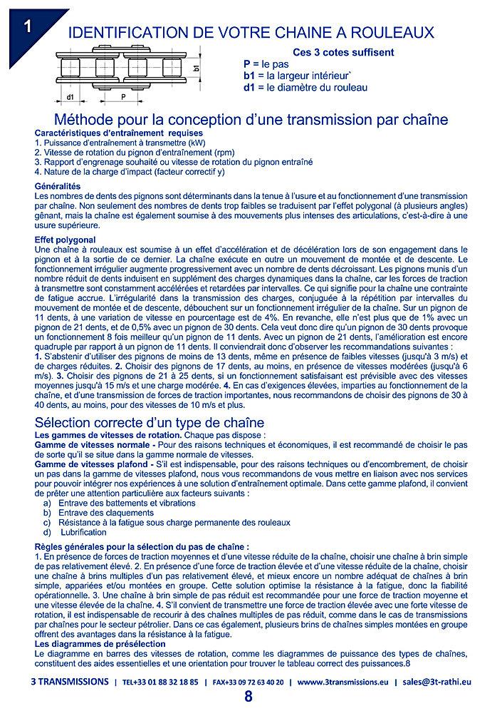Identification chaines à rouleau transmissions mécanique | 3 Transmissions