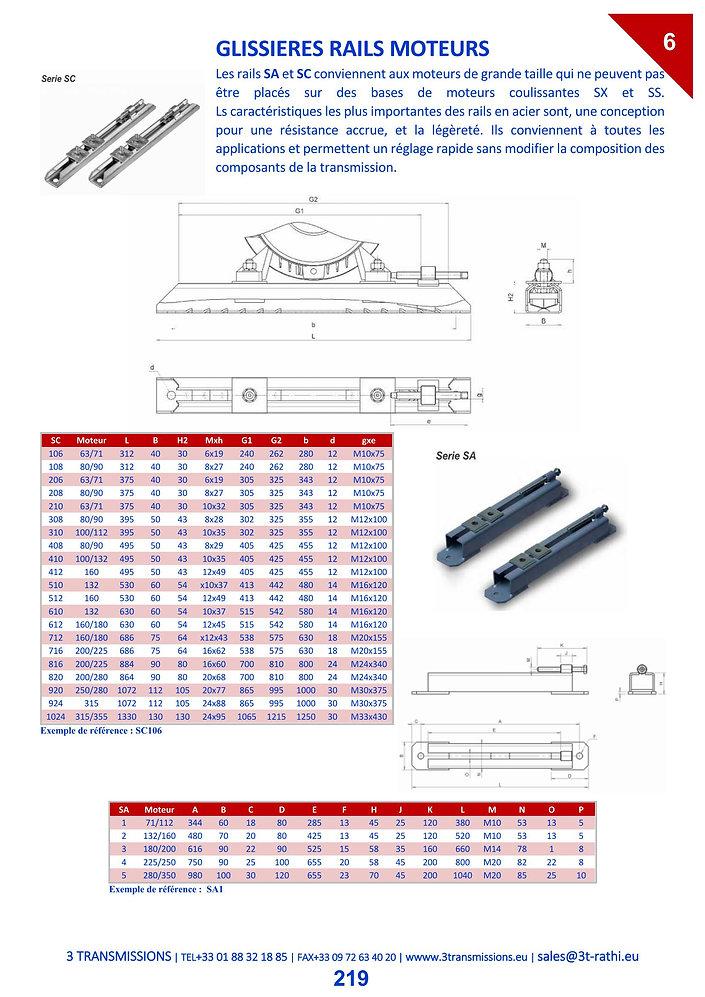 Glissieres rails moteurs, glissiéres moteurs à poussoir mobile | 3 Transmissions