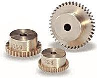 Roue cylindrique droite en laiton module 0,8 bss