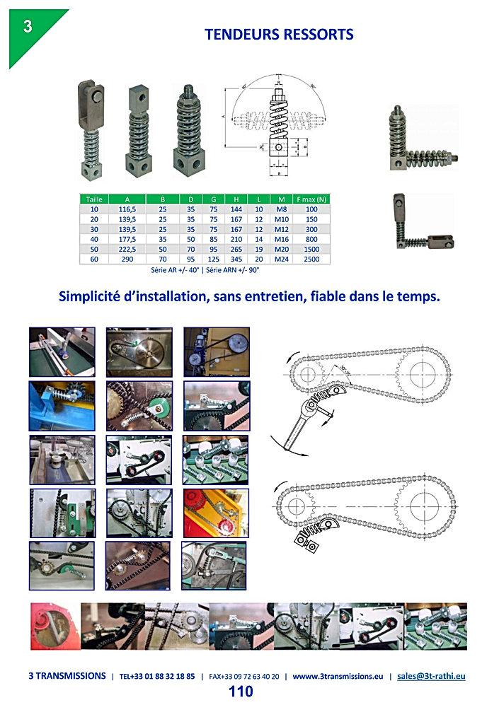 Tendeurs  Automatiques chaines à ressort | 3 Transmissions