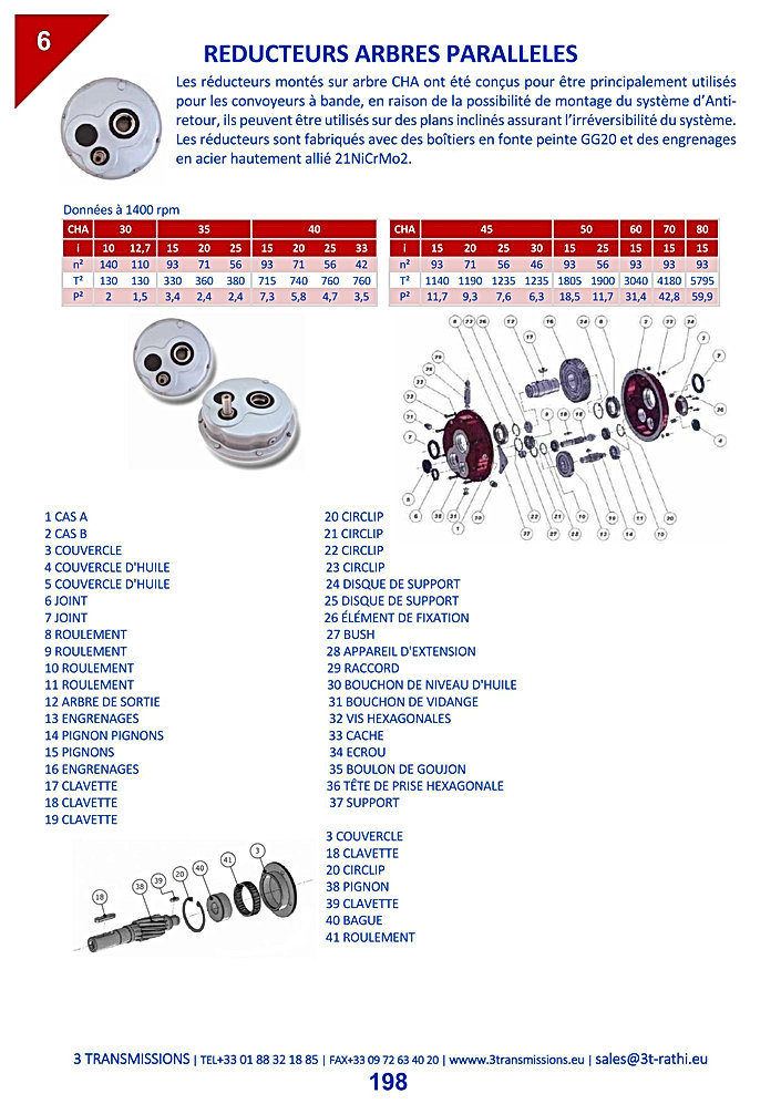 Réducteurs paralléles, Motoréducteurs pendulaires | 3 Transmissions
