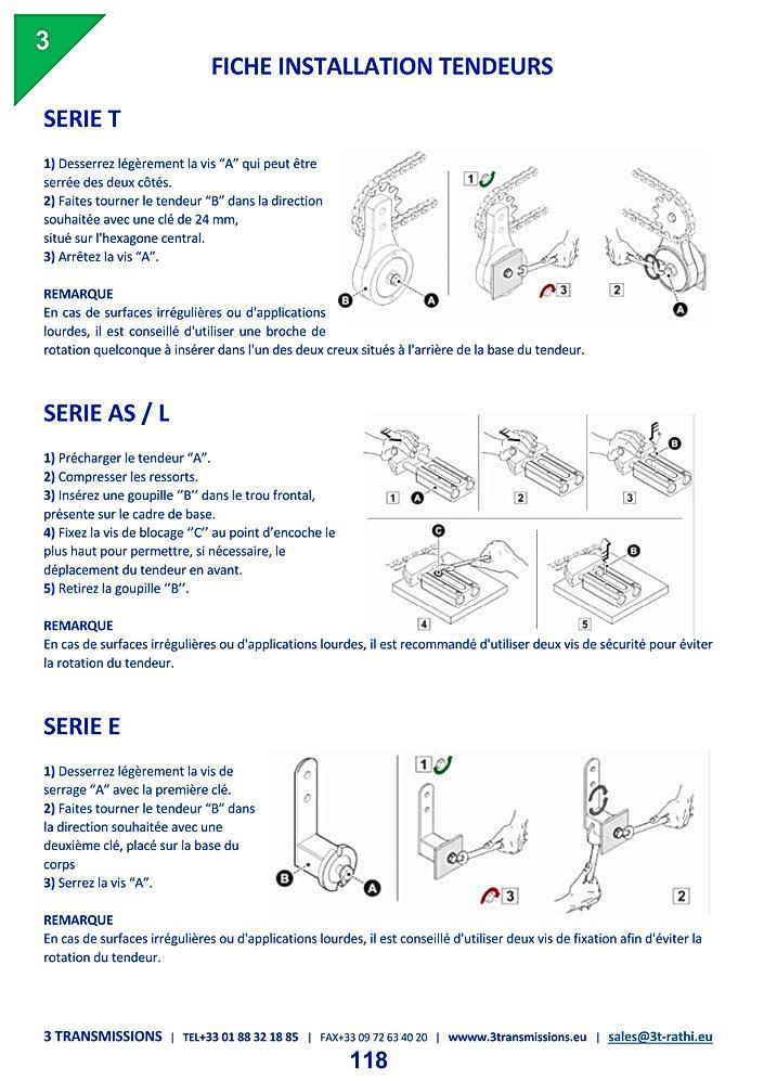Mode emploi maintenance tendeurs automatique | 3 Transmissions
