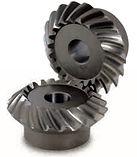 Engrenage spiro conique acier 16CrMo4 60Hrc modèle MMSG