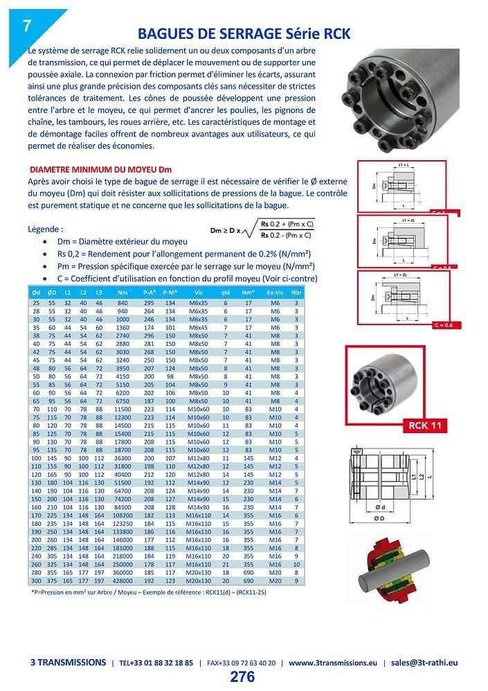Moyeu expensible RCK15   3 Transmissions